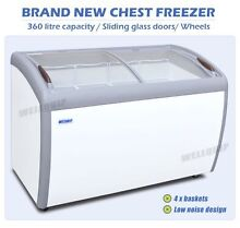 Chest freezer glass sliding doors 360 litres Indooroopilly Brisbane South West Preview