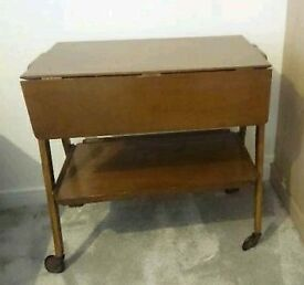 True Vintage Wheeled coffee table