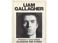 Liam Gallagher 2x seated tickets 04.12.2017 @Glasgow SSE Hydro