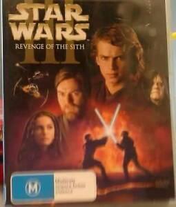 Star Wars Prequels 1, 2, 3 dvds Belmont Lake Macquarie Area Preview