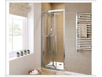 800mm - 6mm - Elements EasyClean Bifold Shower Door (New)