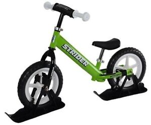 *NEW* Strider Ski Attachments - use your balance bike in Snow!