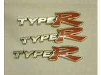Honda type r badges
