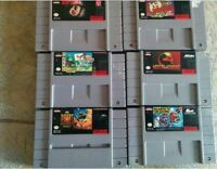 6 Supernintendo games:., Super Mario's Time Machine, Wolfchild,