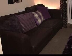 Brown sofa for sale pick up only