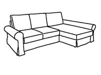 *RESERVED* #bargaincorner BACKABRO, frame sofa-bed with chaise longue, WAS £420 IKEA Nottingham