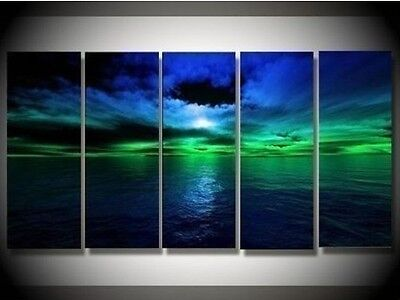 Beautiful~! 5PC MODERN ABSTRACT HUGE WALL ART OIL PAINTING ON CANVAS on Rummage