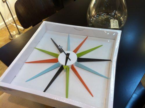 George Nelson Starburst Clock | eBay