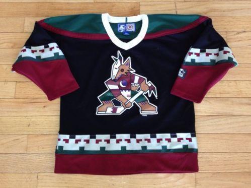 promo code c29b5 22d21 low price vintage phoenix coyotes jersey black 1999 2003 ...