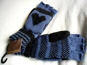 Ladies Fingerless Mitten Gloves