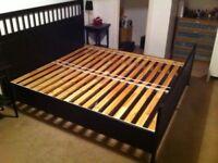 Beautiful Ikea Hemnes Black Brown Super King Size Bed