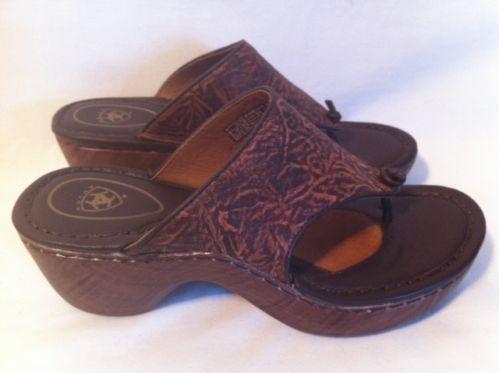 Womens Leather Flip Flops Ebay