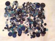 Vintage Blue Button Lot