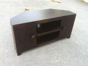 54eee6eeac9 Dark Wooden TV Stand