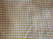 Yellow and White Fabric