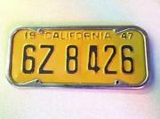 1947 California License Plate