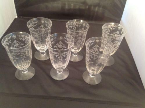 Etched Ice Tea Glasses Ebay