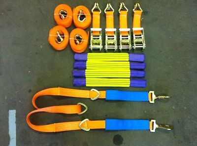 4 X 4 Meter Car Transporter Recovery Straps & Winch Brother for flatbed trailers
