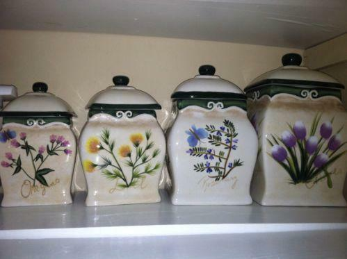 decorative canister sets kitchen decorative kitchen canisters ebay 17162