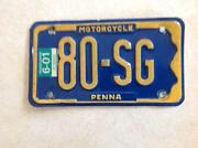 Pennsylvania Motorcycle License Plate