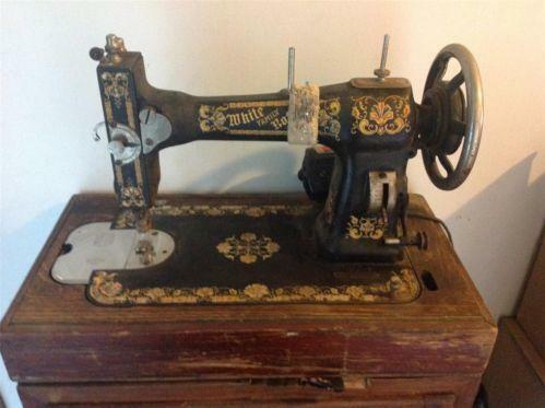 antique white rotary sewing machine parts