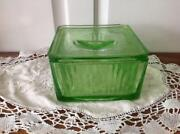 Depression Glass Refrigerator Dish