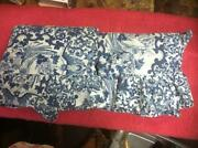 Blue Toile Pillow
