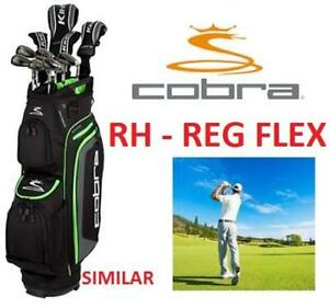 NEW COBRA KING F6 GOLF CLUB SET RH - 126437999 - King F6 Package Set with Steel Shafts - REGULAR FLEX