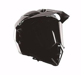NEW IN BOX WITH TAGS AGV AX-8 DUAL EVO MOTORBIKE HELMET GLOSS BLACK SIZE XXXL(65-66) ONLY £150