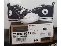 fc50e200988 Brand New in Box - Baby Converse Crib Shoes - UK Size 4