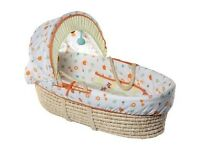 Moses basket and stand for £7