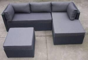 Outdoor wicker setting chaise coffee table ottoman modular Liverpool Liverpool Area Preview