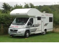 6 Berth Motor home/ Camper Van Hire- Prices from £420 Cambridge UK - WFL Hire 01954 782 812