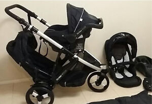 BUNDLE - Steelcraft Strider Plus Stroller with Infant Car Carrier Benowa Gold Coast City Preview