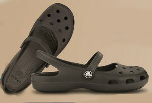 Crocs-Shayna-Espresso-Brown-Women-mary-Jane-Flat-All-Size-5-6-7-8-9-10-11-12