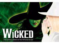 2 x Wicked Theatre Tickets at Apollo London - Saturday 28th January 2017 2.30pm