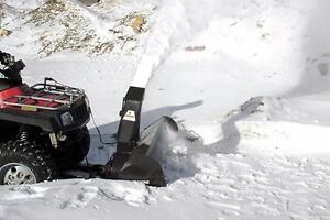 ATV Snowblower, ATV Power Broom, ATV Trail Mower Mounted on your ATV Power Frame System