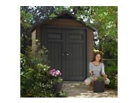 Keter Fusion 754 plastic shed (new)