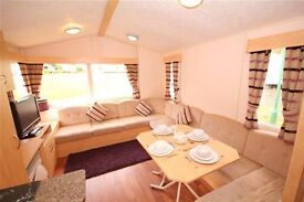 Pre-owned caravan for sale at Haggerston Castle holiday Park, 3 bedrooms, heated