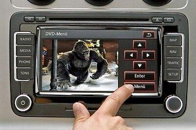 VW RNS510 SKODA COLUMBUS DVD VIDEO IN MOTION UNLOCK VIM