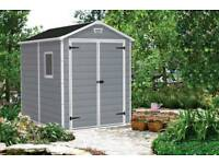Keter 6x5 Grey Garden Shed - Brand new, Boxed (RRP £440)