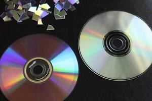 CDs or DVDs - would like to cut them for mosaic Bow Bowing Campbelltown Area Preview