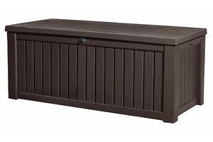 keter aufbewahrungsbox rockwood universalbox mit sitzfunktion ebay. Black Bedroom Furniture Sets. Home Design Ideas
