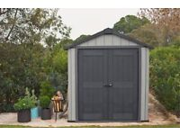 Keter Oakland Garden Shed 757, 2.29m x 2.24m(7.5ft 7ft) Cheapest in UK !! BRAND NEW SEALED !!