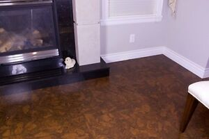 Warm floors, lower heating cost. Cork the natural way to go.