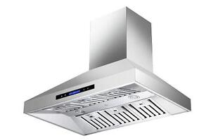 NEW DESIGN WALL MOUNT - RANGE HOOD - LED LIGHTS 30""