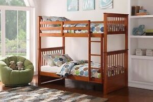 WOODEN BUNK BED SINGLE/SINGLE