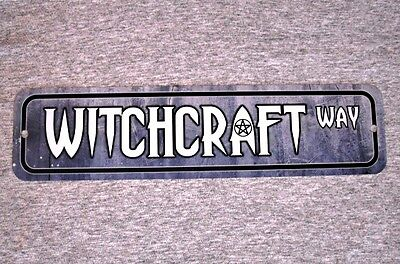 Metal Sign WITCHCRAFT street witchery witch magical spell rituals demonic wicked