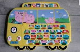 Peppa Pig learning bus has sound and light up