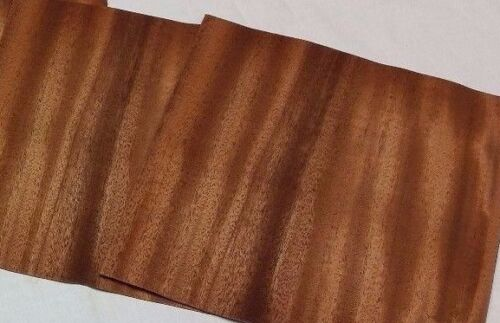 "Mahogany Wood Veneer, Raw/Unbacked - Pack of 3 - 9"" x 9"" x 0.024"" Sheets"